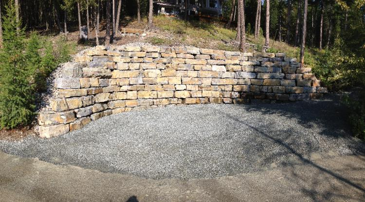 Moyie Rust, Iron Rock, natural Lego Block, retaining wall stone